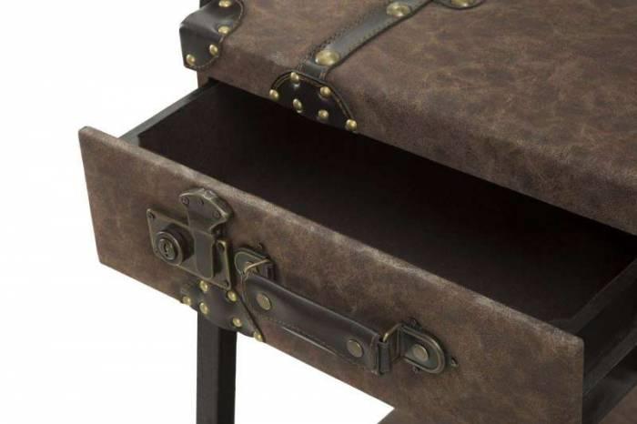 Etajeră Breanna, 181x86.5x55 cm, metal/ mdf/ pu, maro