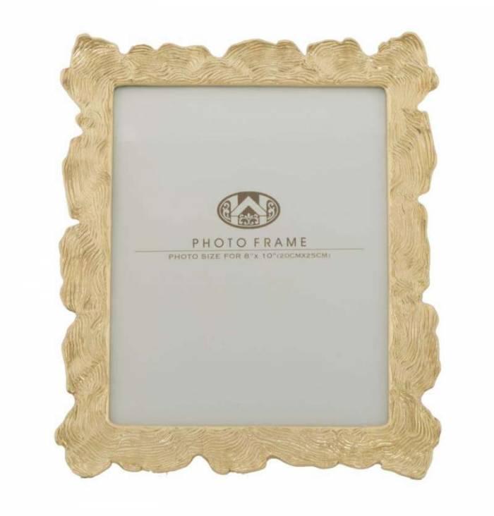 Ramă foto Elegance, 31,5x27x2 cm, polirasina/ sticla, auriu