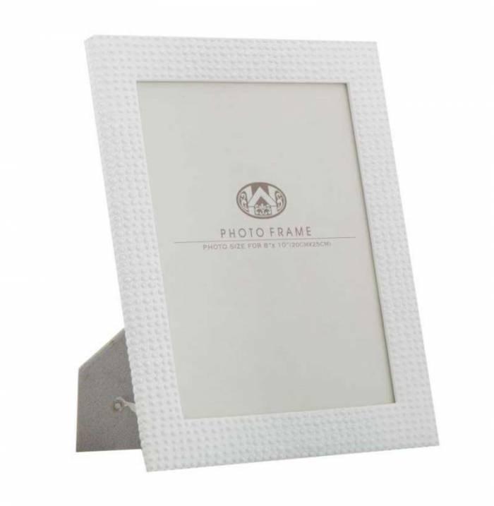 Ramă foto Fancy, 31,5x26x1,5 cm, polirasina/ sticla, alb