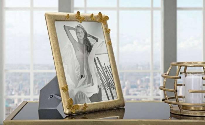 Ramă foto Glady, 30x25x2,5 cm, polirasina/ sticla, auriu