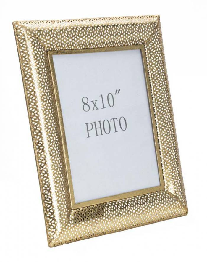 Ramă foto Holly, 36x31x16 cm, metal/ sticla, auriu