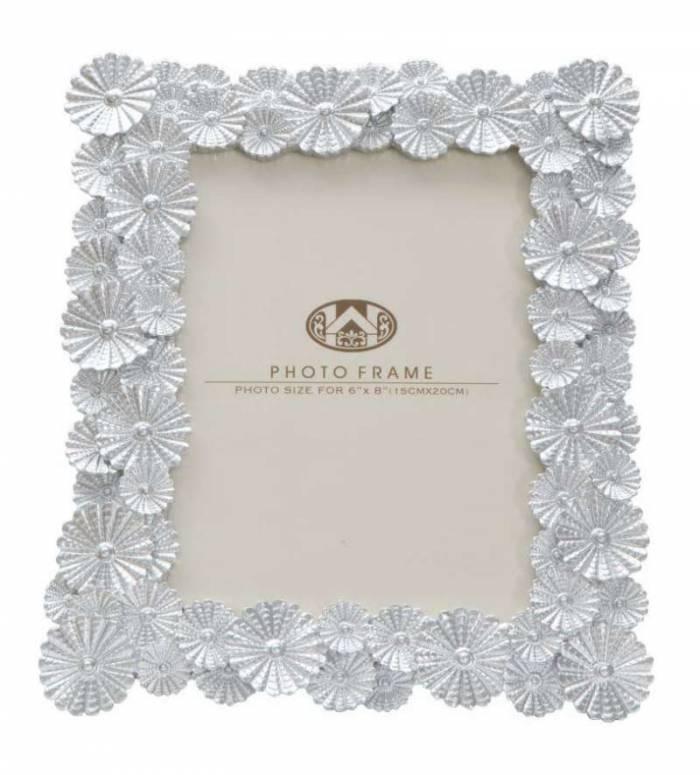 Ramă foto Phix, 27x23x2 cm, polirasina/ sticla, argintiu