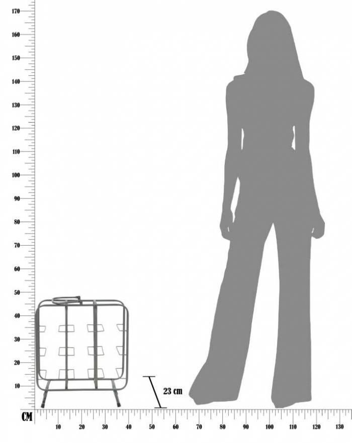Suport de sticle Umbra, 47.5x40x23 cm, metal, negru/ gri