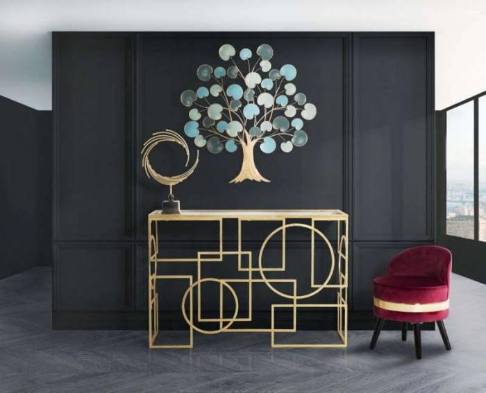 Taburet Josefa, 62x45x45 cm, lemn/ catifea, bordo/ negru/ auriu