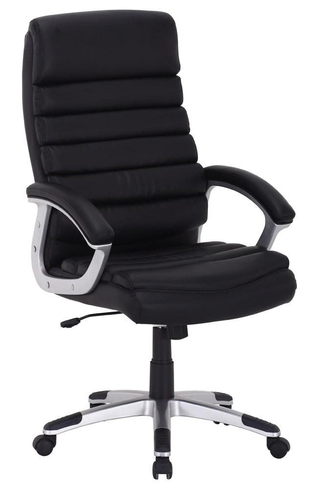 Scaun de birou Q-087 66X115X50 cm, ecopiele, negru