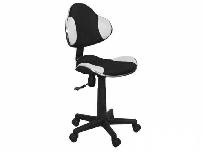 Scaun de birou Q-G2 53x89x44 cm, poliester, alb/negru