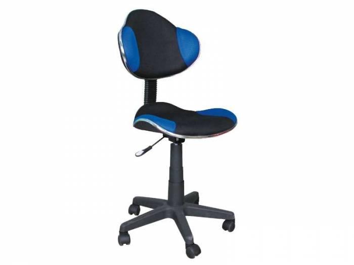 Scaun de birou Q-G2 53x89x44 cm, poliester, albastru/negru