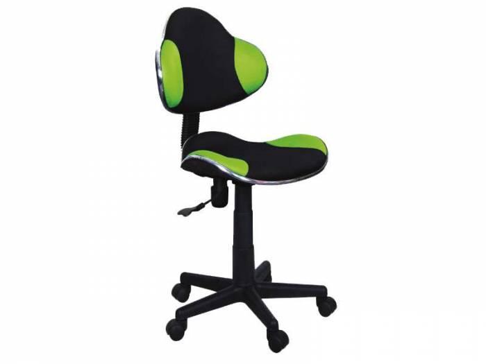 Scaun de birou Q-G2 53x89x44 cm, poliester, negru/verde