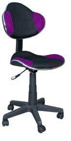 Scaun de birou Q-G2 53x89x44 cm, poliester, negru/violet