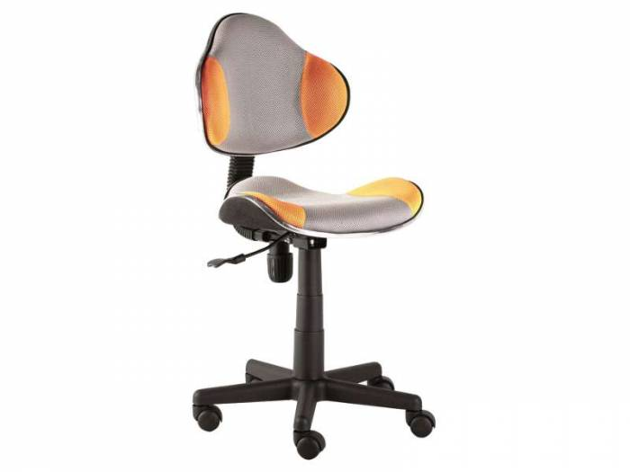 Scaun de birou Q-G2 53x89x44 cm, poliester, portocaliu/gri