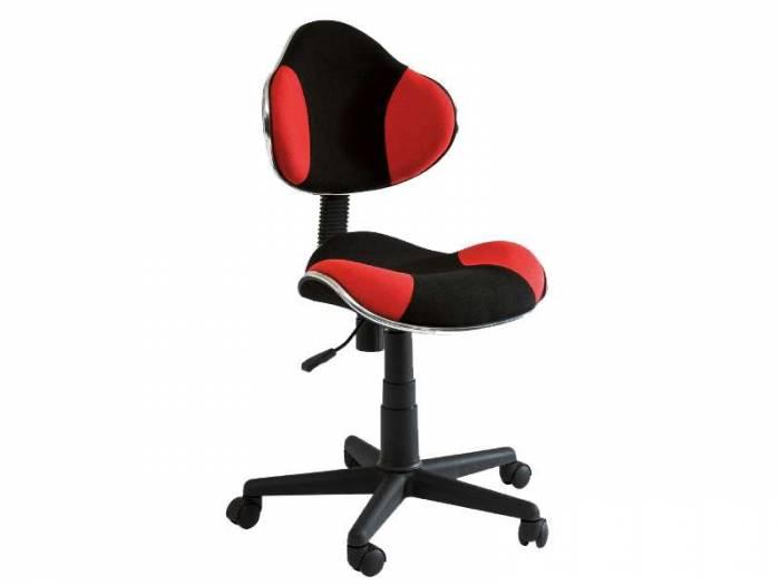 Scaun de birou Q-G2 53x89x44 cm, poliester, roșu/negru