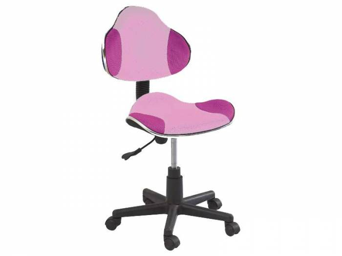 Scaun de birou Q-G2 53x89x44 cm, poliester, roz