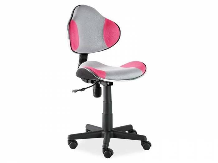 Scaun de birou Q-G2 53x89x44 cm, poliester, roz/gri