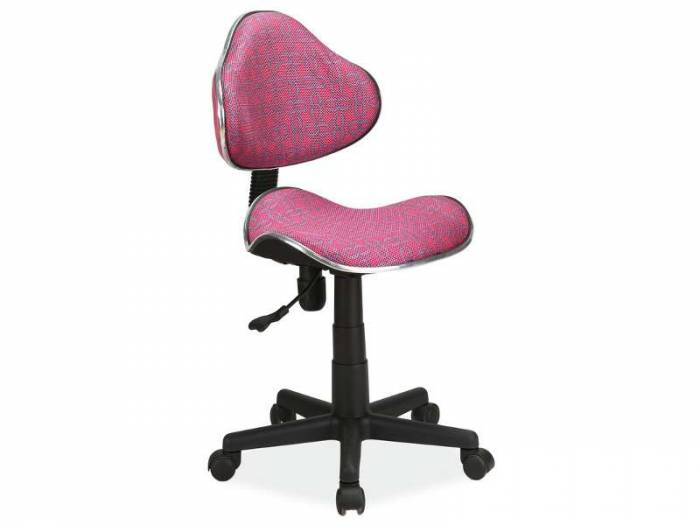 Scaun de birou Q-G2 53x89x44 cm, poliester, roz/pattern