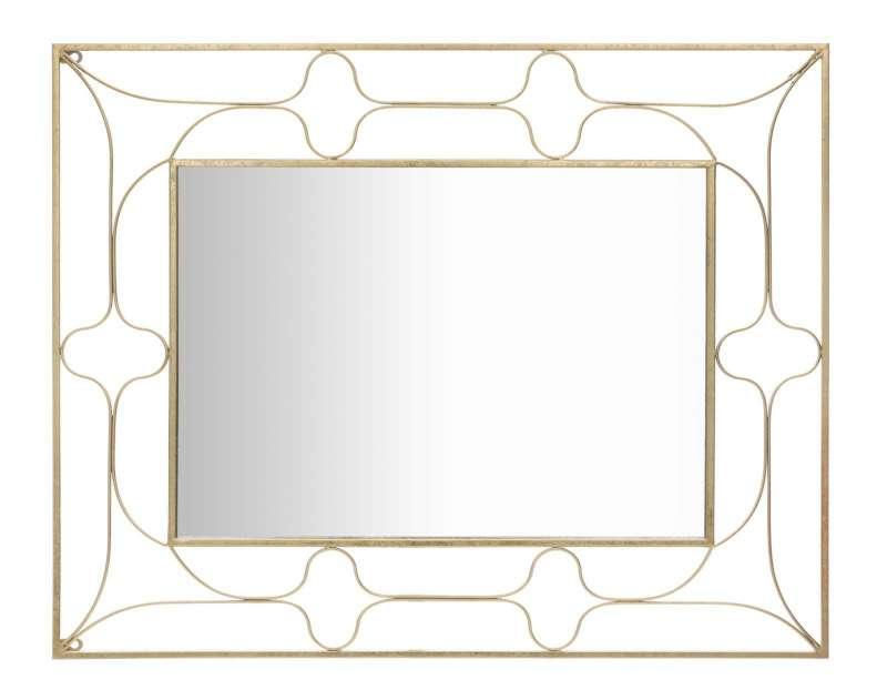 Oglindă de perete Arab, 100x80x3 cm, metal/ sticla, auriu poza