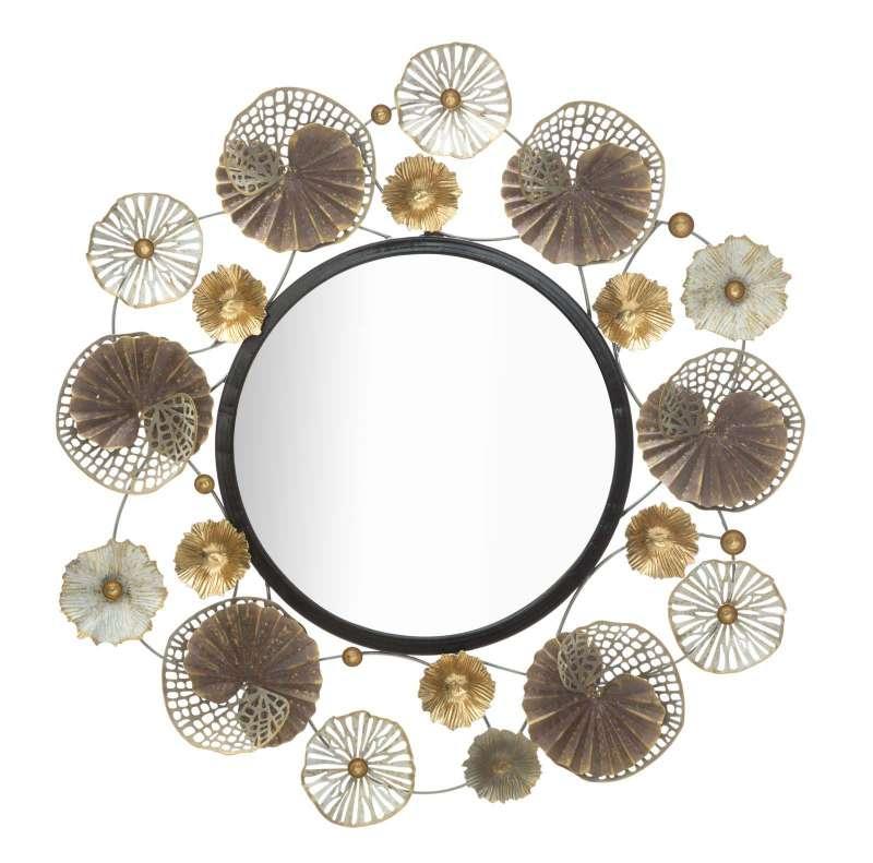 Oglindă de perete Circly, 73,5x71,5x4 cm, metal/ sticla, multicolor poza