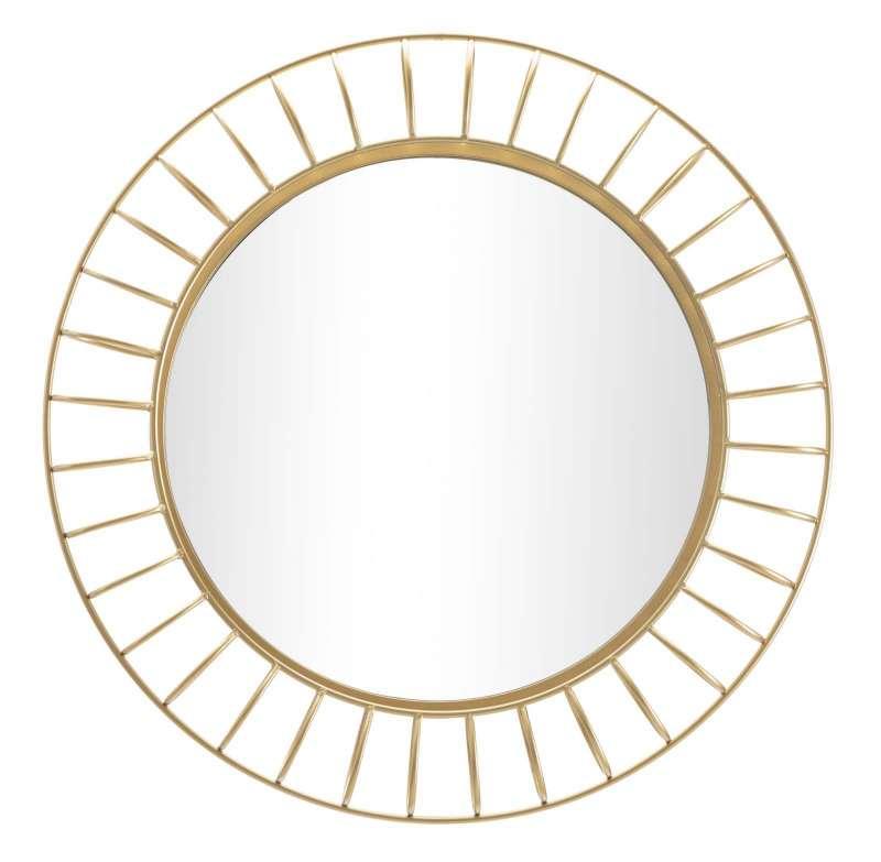 Oglindă de perete Glam, 81x81x8,9 cm, metal/ sticla, auriu poza