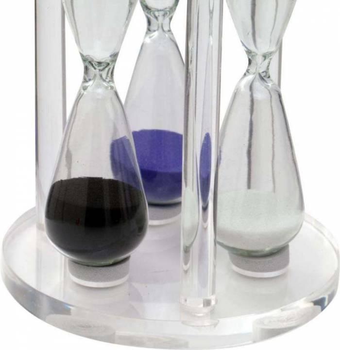 Decorațiune triplă Clepsidra, 11.3x8x8 cm, sticla, transparent