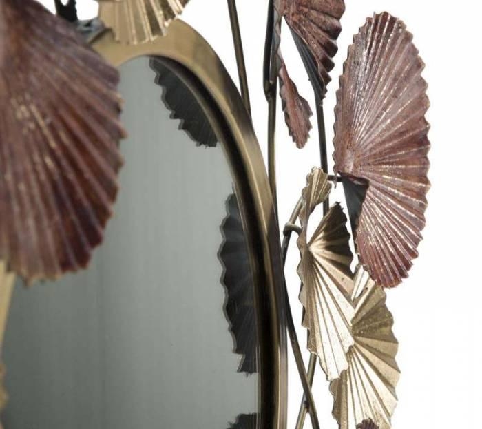 Oglindă de perete Leaf, 69,5x71x6 cm, metal/ sticla, multicolor
