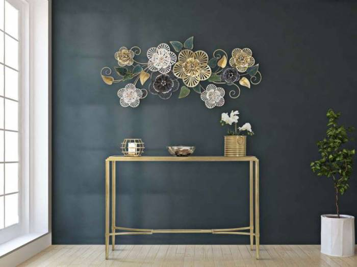 Decorațiune de perete Campur, 58x118x43 cm, metal, multicolor