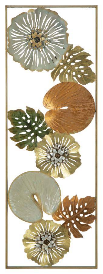 Decorațiune de perete Leaf, 90x31.5x3 cm, metal, multicolor
