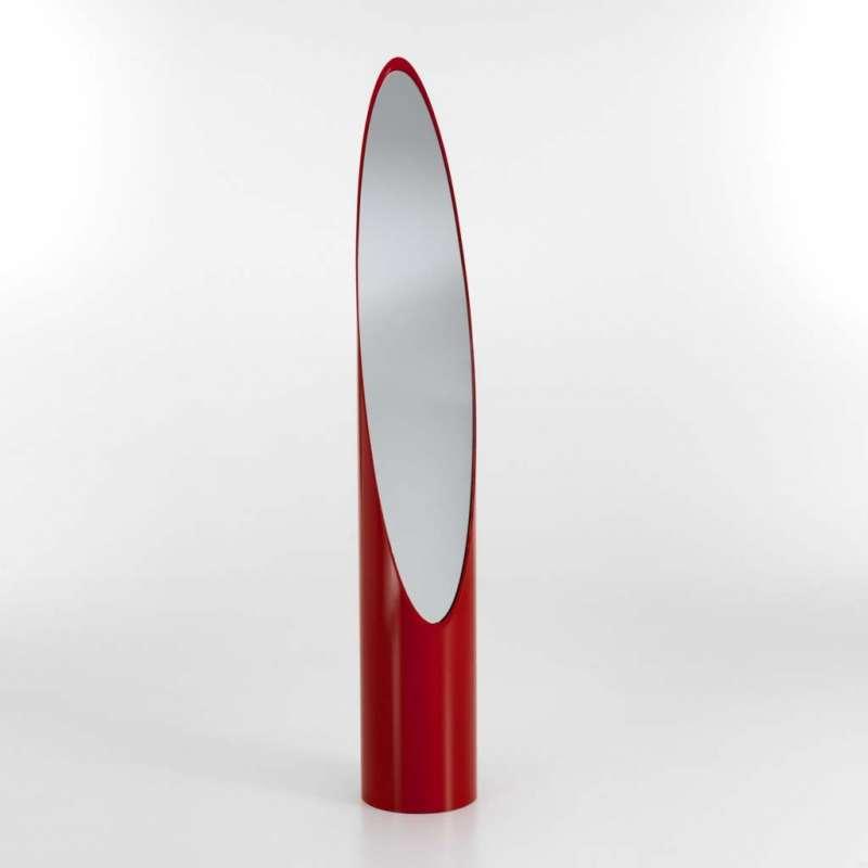 Oglinda De Podea Eger, 159x25.5 Cm, Abs/ Sticla, Rosu