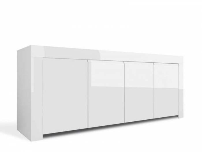 Bufet Amber, 82x50x210 cm, melamină, alb