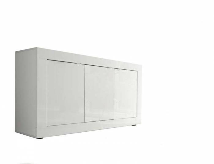 Bufet Basic, 86x43x160 cm, melamină, alb