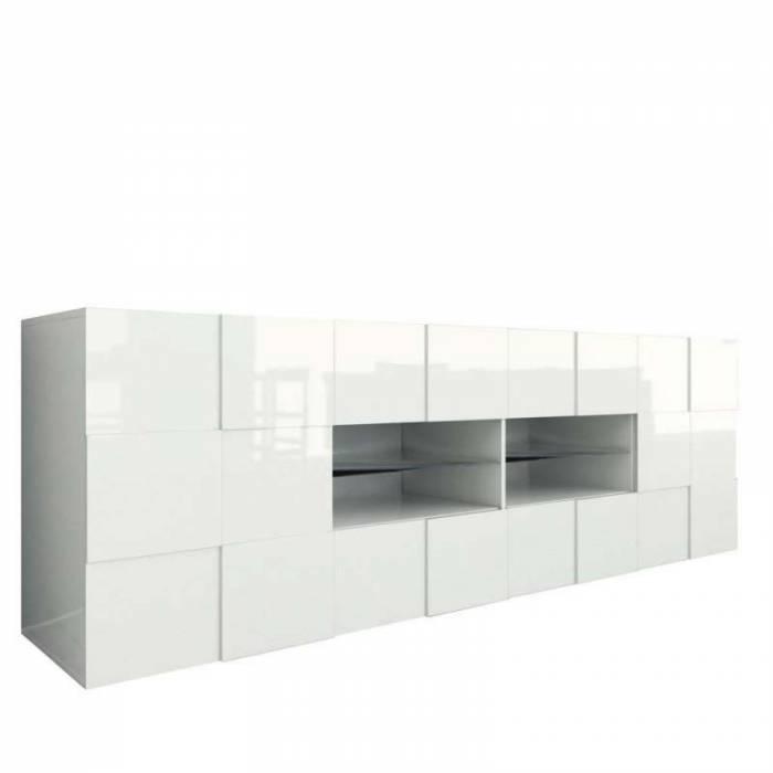 Bufet Bramon, 84x42x240 cm, melamină, alb