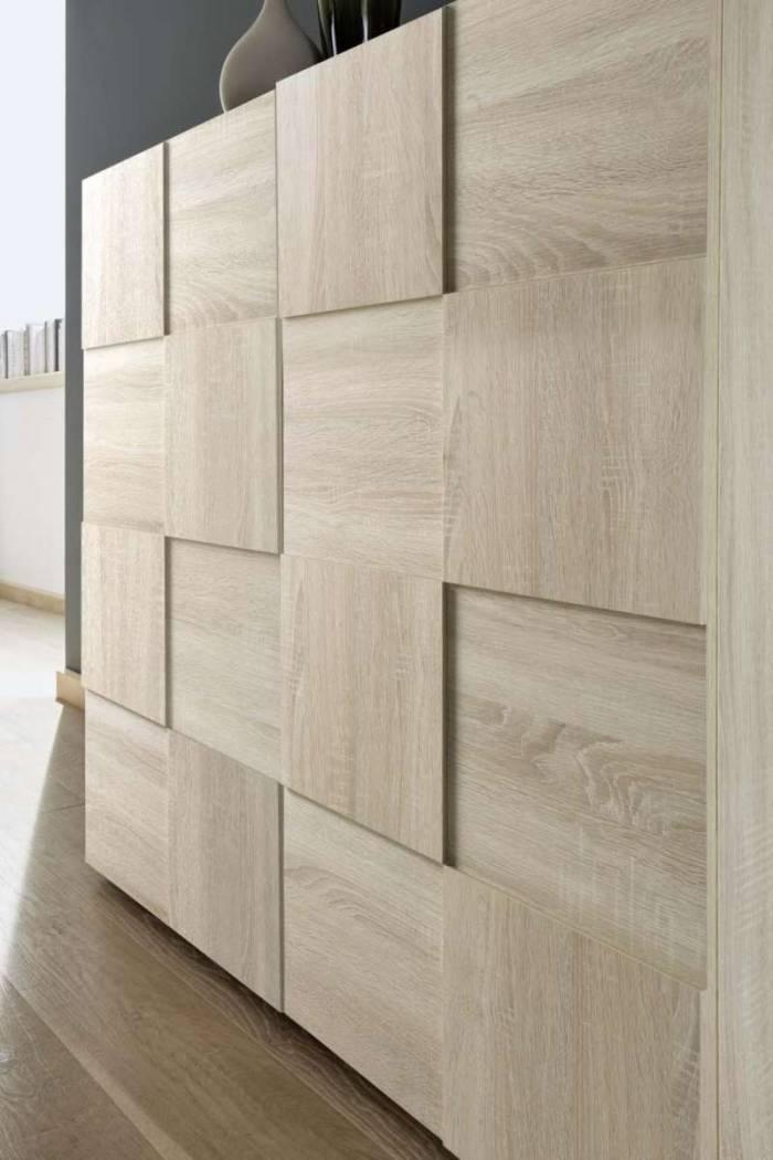 Bufet Bramon, 84x42x240 cm, melamină, maro