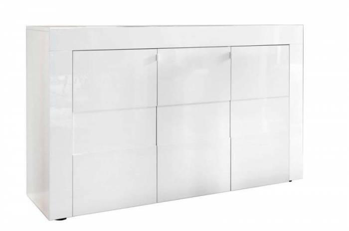 Bufet Build, 84x42x138 cm, melamină, alb