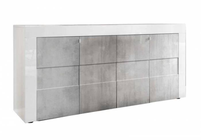 Bufet Build, 84x42x180 cm, melamină, gri