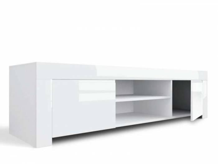 Comodă TV Amber, 45x50x140 cm, melamină, alb