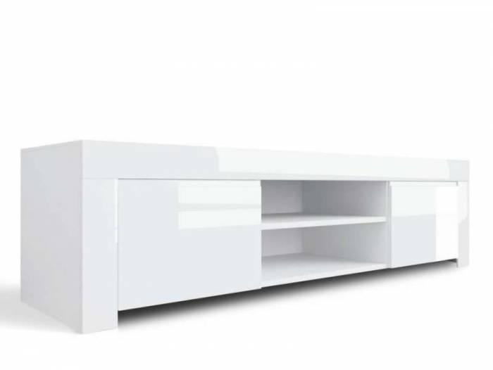 Comodă TV Amber, 45x50x190 cm, melamină, alb