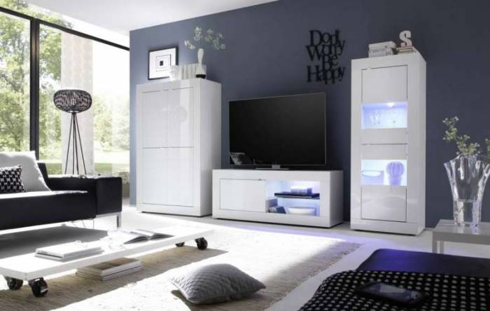 Comodă TV Basic, 56x43x140 cm, melamină, alb
