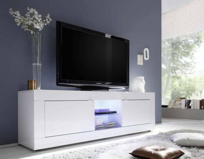 Comodă TV Basic, 56x43x180 cm, melamină, alb
