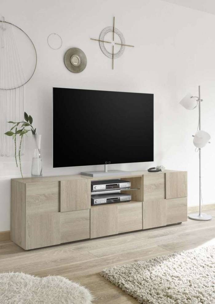 Comodă TV Bramon, 57x42x180 cm, melamină, maro