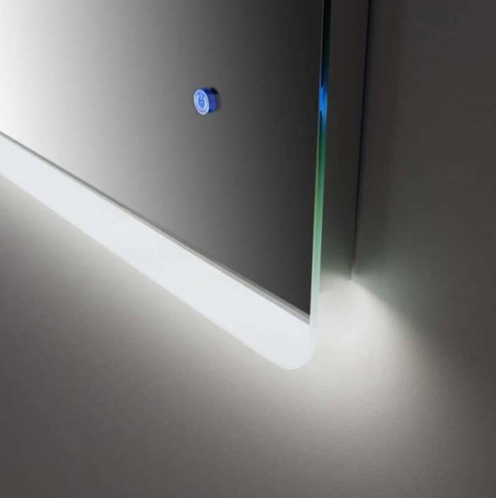 Oglindă cu led Rob 1, 60x2.5x90 cm, sticlă/ abs, transparent
