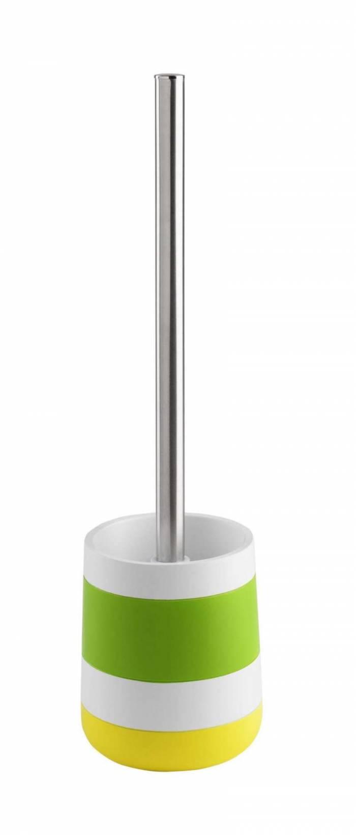 Perie de toaletă Hoop, 37x10x10 cm, rășină/ metal, multicolor