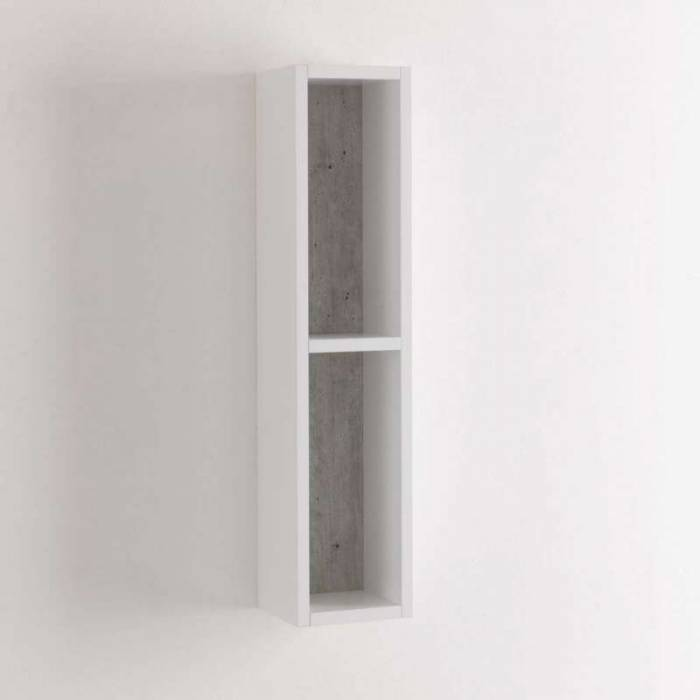Raft Belsk, 78.2x16x17.5 cm, mdf, gri