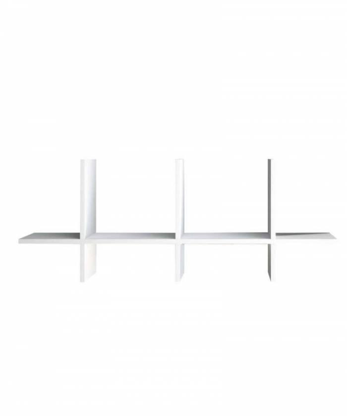 Raft de perete Easy 1, 37x15x92 cm, melamină, alb