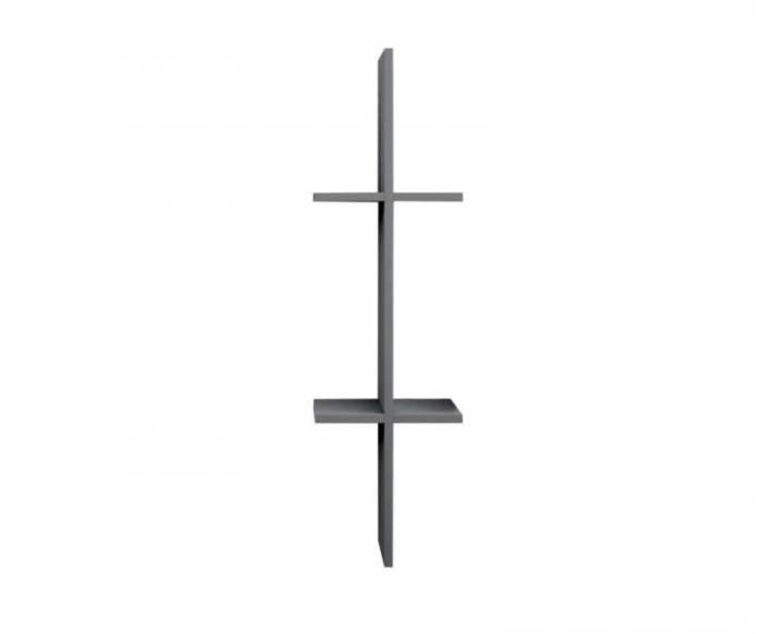 Raft de perete Easy 2, 82x15x24 cm, melamină, gri