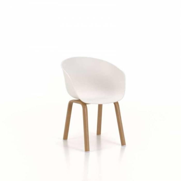 Set 4 scaune de living Atlanta, 78x51x58 cm, metal/ polipropilenă, alb