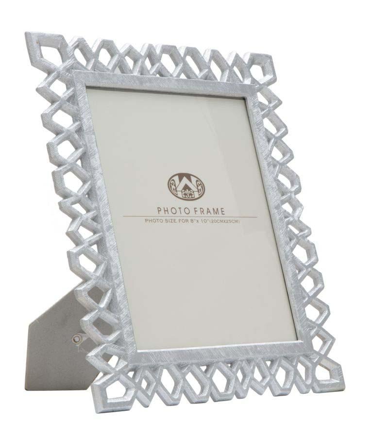 Ramă foto Classic Silver, 34,8x29,8x1,8 cm, polirasina/ sticla, argintiu