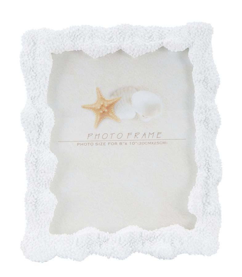 Ramă foto Corallo, 30.5x25.7x2.5 cm, rasina/ sticla, alb