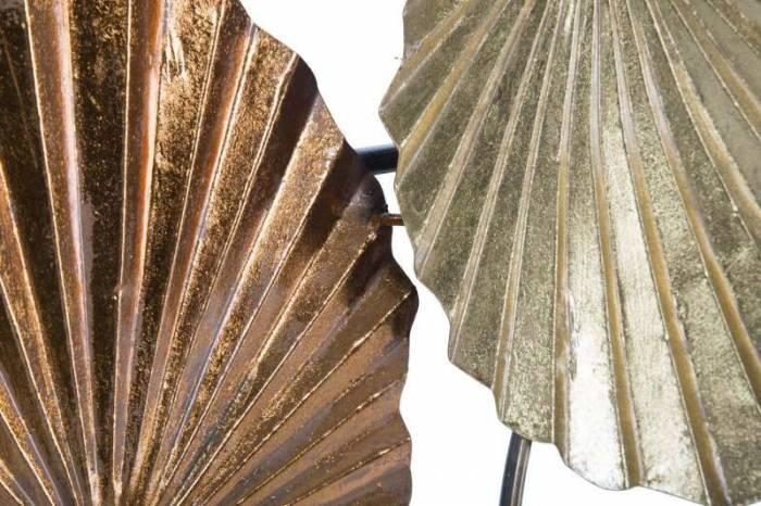 Decorațiune de perete Tody, 69x124x5 cm, metal, auriu/ argintiu/ portocaliu