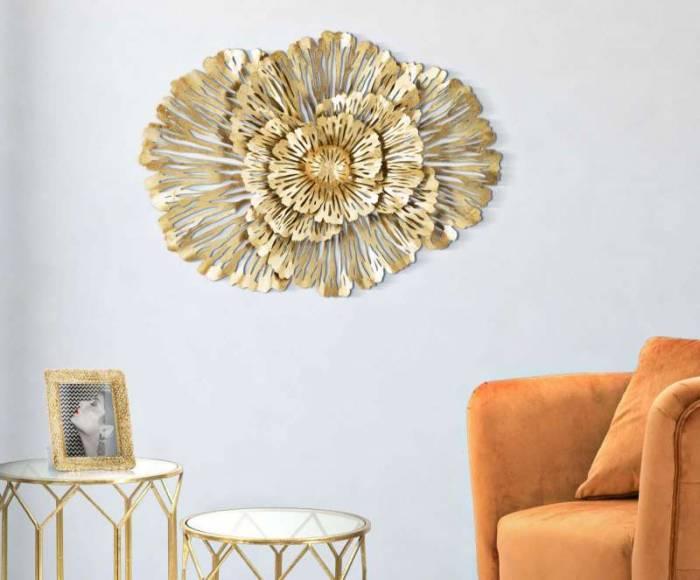 Decorațiune Ibis, 55x74x10 cm, metal, auriu