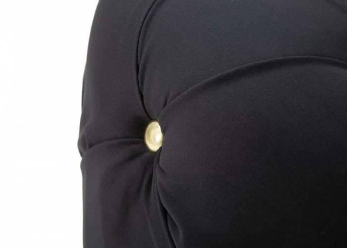 Puf Diamond Glam, 40x45x45 cm, mdf/ metal/ poliester, negru/ auriu