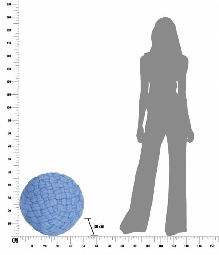 Puf Rope, 30x50x50 cm, poliester/ polistiren, albastru