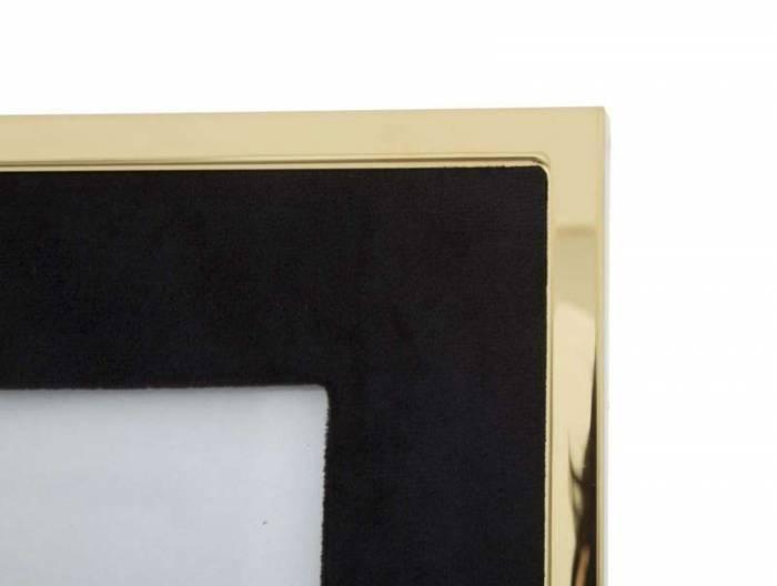 Ramă foto , 29x24x1.5 cm, mdf/ metal/ sticla, negru/ auriu